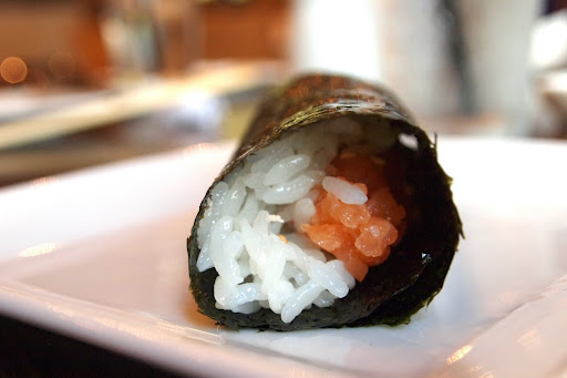 Sweet Chili Salmon Hand Rolls