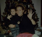 Christmas, with my son Peter 1990.