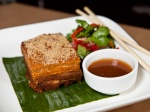 One of my favor dishes, Crispy pork belly with tamarind herb salad and Thai chili sugar at Spice Market.
