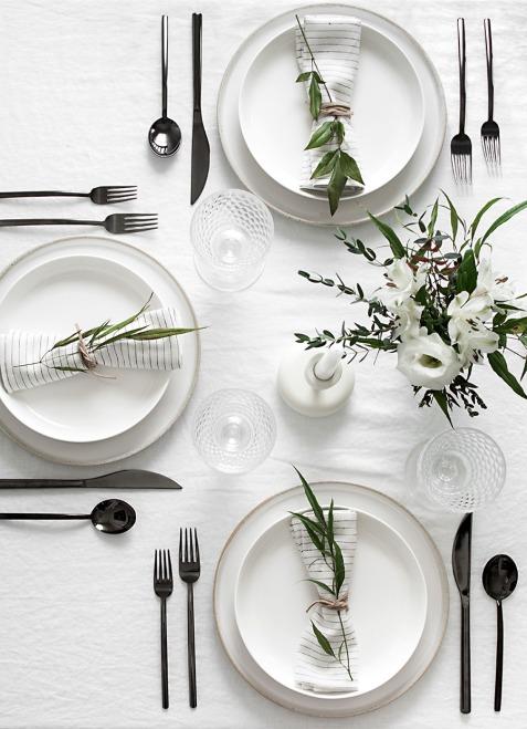 White n Simple Plates